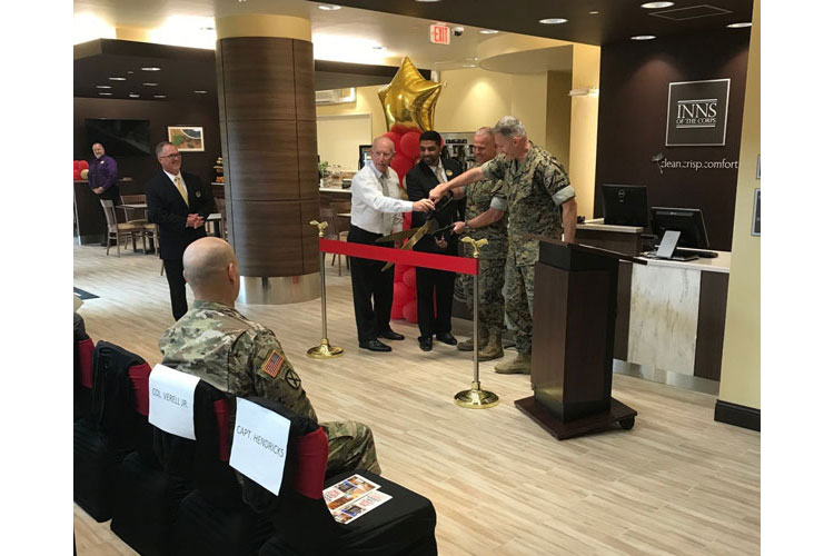 Verell attends Camp Hansen Inns of the Corps Ribbon Cutting