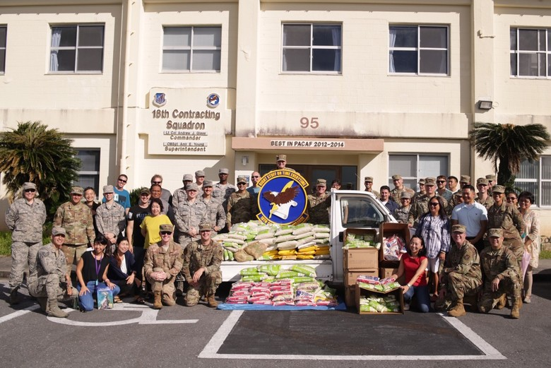 18th CONS donates 3,010 lbs of rice to local shelters