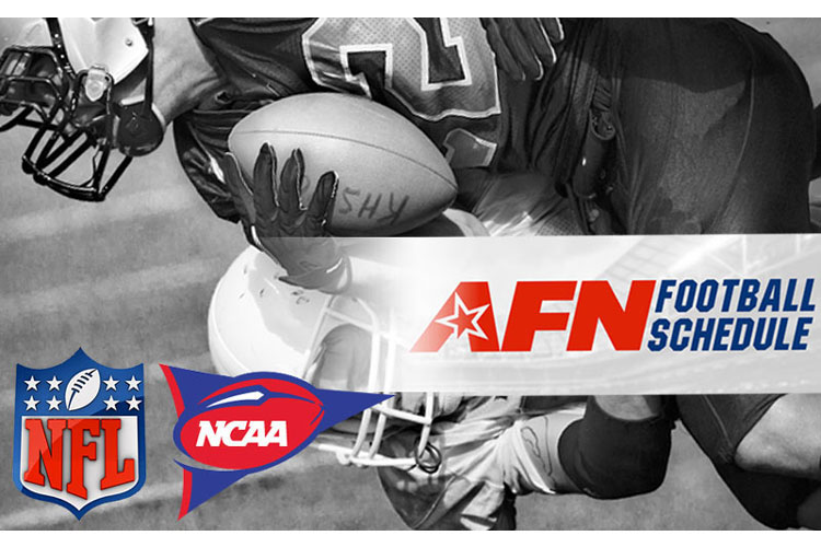 NFL Week 7 (Oct. 17-21) schedule and NCAA Football games (Oct. 17-20) on AFN