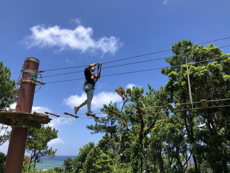 Break A Sweat Ziplining In Okinawa Stripes Okinawa