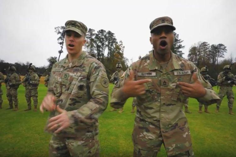 """A screen grab shows a scene from an Army recruiting video called """"Giving All I Got."""" (U.S. ARMY)"""
