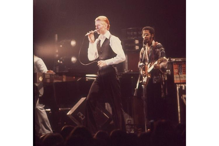 David Bowie live at Public Hall, Cleveland, Ohio February 28, 1976.  The author, Rolla Suttmiller was 17 at the time and it was the third time she saw him in concert in Cleveland. (Photo By Rolla Suttmiller)