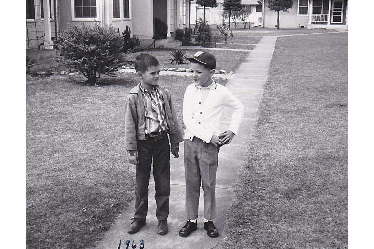 Mr. Michael Leaverton (on the right) & his friend Ralph in the Sagamihara housing area in 1963.