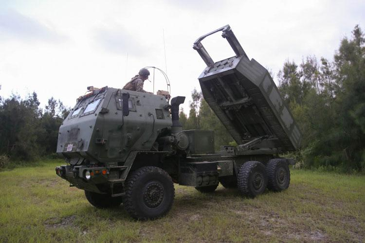 U.S. Marines with 3rd Battalion, 12th Marine Regiment, 3rd Marine Division, participate in the Central Training Area High Mobility Artillery Rocket System field training exercise, known as CTA HIMARS, on Camp Hansen, Okinawa, Japan, from Aug. 15-30, 2019. The integration of HIMARS during this FTX helps refine tactics, techniques and procedures to enhance the Marine Corps' readiness within the region. (U.S. Marine Corps photo by Lance Cpl. Ujian Gosun)