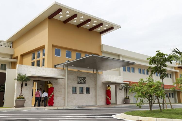 The Inns of the Corps lodging facility opened on Camp Hansen, Okinawa, Japan Aug. 19, 2019. Construction on the Inns of the Corps facility began on November 25, 2017 and finished on May 1, 2019. (U.S. Marine Corps photo by Lance Cpl. Ryan H. Pulliam)
