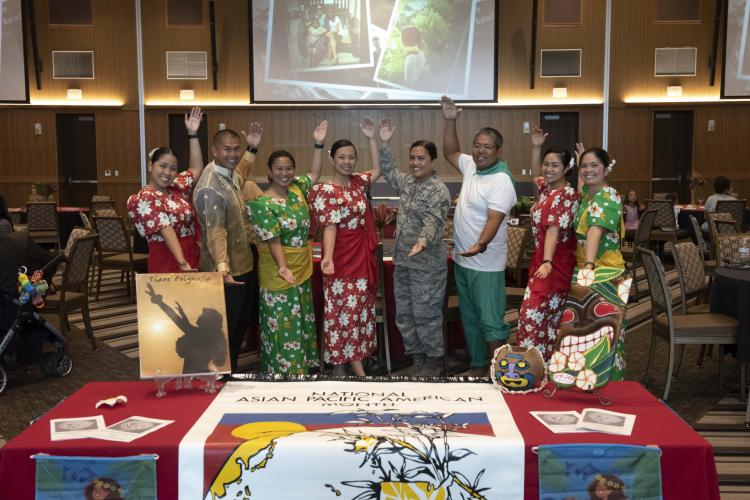 Asian American and Pacific Islander Heritage (AAPIH) committee members host a luncheon at the Rocker Enlisted Club, Kadena Air Base, Japan, May 16, 2019. During AAPIH Month of May, committee members hosted a variety of events such this luncheon to raise awareness, appreciation, and respect for the diversity of Asian service members who make up significant portion of all military members. (U.S. Air Force photo by Staff Sgt. Peter Reft)