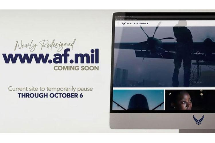 The newly redesigned AF.mil is coming soon. (U.S. Air Force graphic by Travis Burcham)