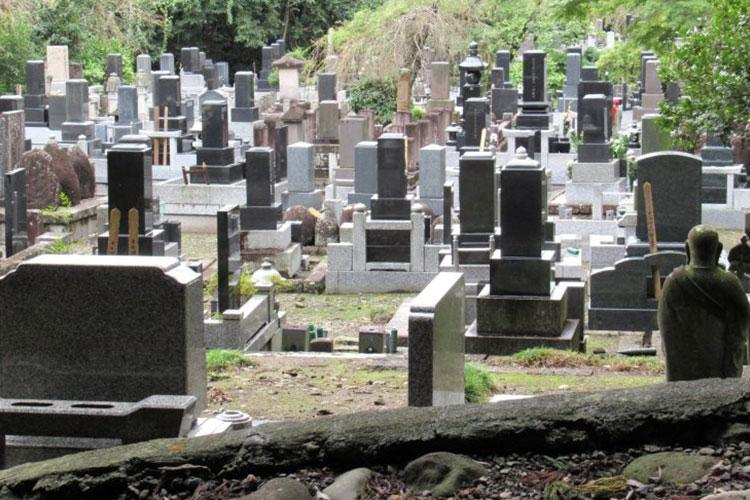 Japanese cemeteries are neat and clean.