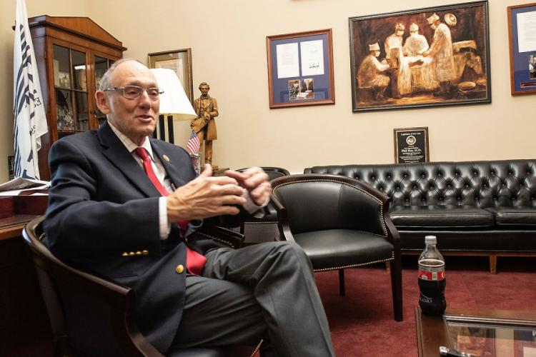 Rep. Phil Roe, R-Tenn., in his Capitol Hill office during an interview with Stars and Stripes in November 2019, introduced the House version of the bill. JOE GROMELSKI/STARS AND STRIPES