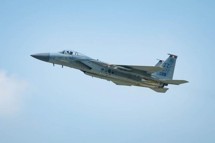 An F-15C Eagle takes off from Kadena Air Base, Japan, April 3, 2019. MATTHEW SEEFELDT/U.S. AIR FORCE