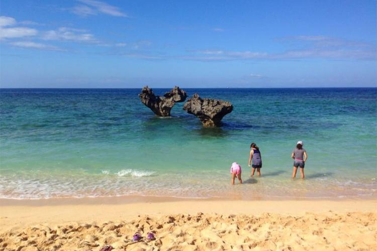 Heart rock is a popular spot for couples to visit on Kouri Island, Okinawa. AYA ICHIHASHI/STARS AND STRIPES