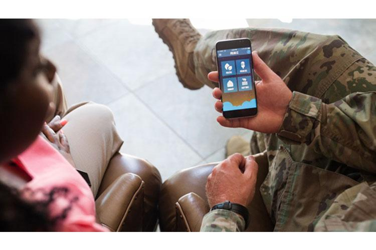 Mobile mental health tools, including apps, can provide support to people experiencing anxiety while sheltering at home. May is Mental Health Awareness Month. (Photo by DHA Connected Health)