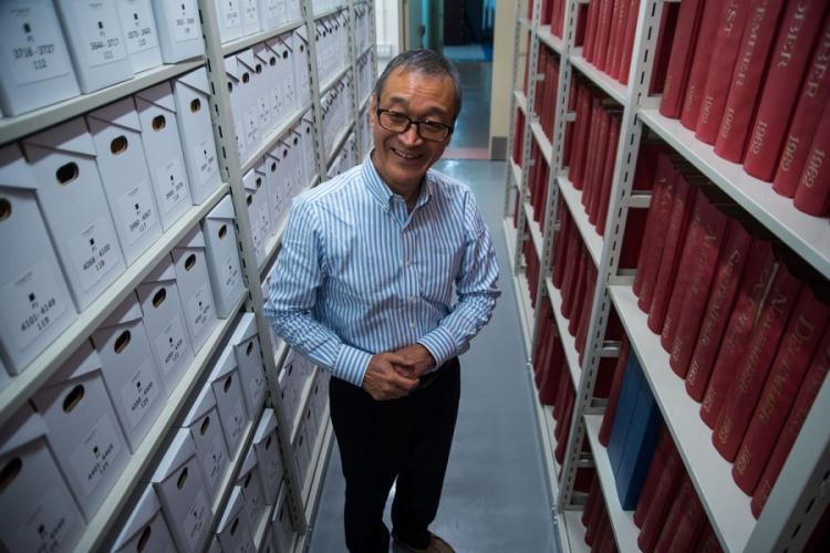 Norio Muroi began working for Stars and Stripes' Tokyo office as a copy boy in 1977 and began working in the library in 1979. THERON GODBOLD/STARS AND STRIPES