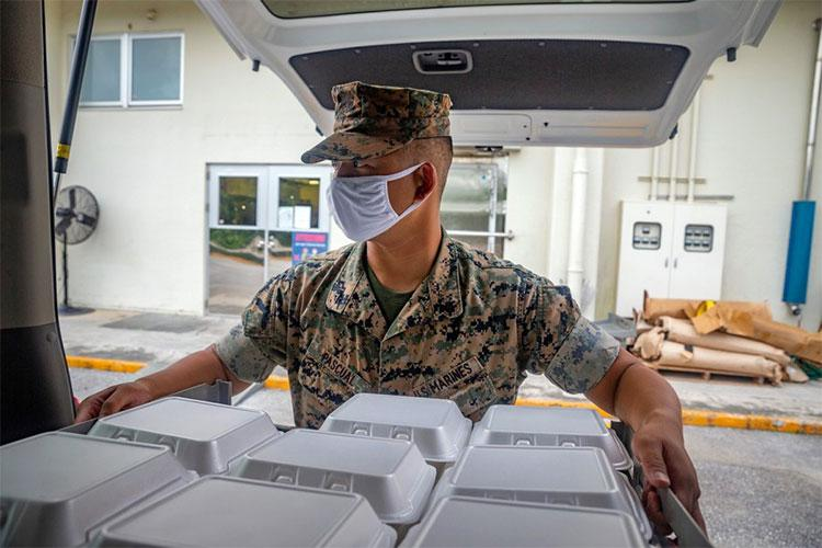 The Marine Corps on Okinawa has reported a total of 225 coronavirus infections from two clusters discovered on the island after Fourth of July weekend. Many of those have since recovered. KARIS MATTINGLY/U.S. MARINE CORPS