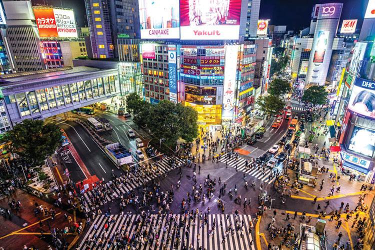Shibuya Crossing is one of Tokyo's most recognized locations. Photos by Brock