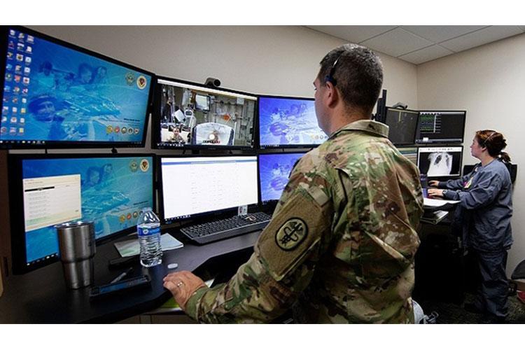 Virtual health exercise at Madigan Army Medical Center. (U.S. Army photo)