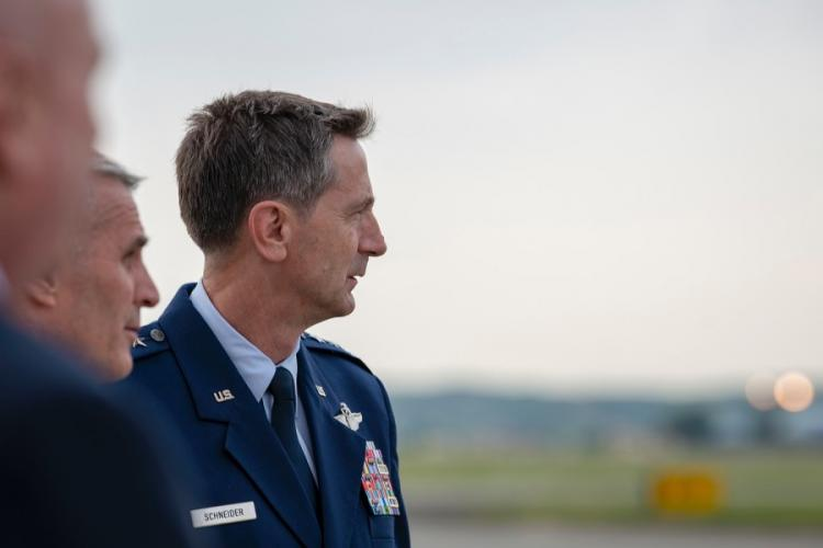 U.S. Forces Japan commander Lt. Gen. Kevin B. Schneider is pictured at Yokota Air Base, Japan, June 3, 2019. BRIEANA BOLFING/U.S. AIR FORCE