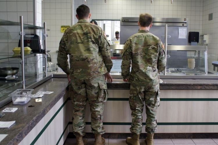 Kaserne, which began offering free meals Friday to members of the Stuttgart military community not getting paid because of the government shutdown. (JOHN VANDIVER/STARS AND STRIPES)