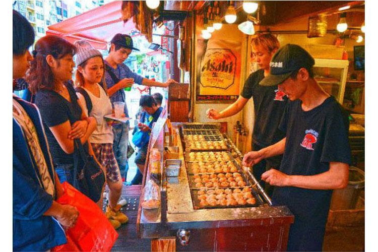 Street Food, summer, takoyaki, yakisoba, yakitori, potatoes, corn, crape, kakigori