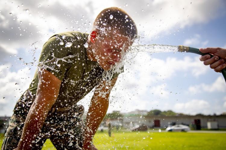 SAF Marines take on OC spray