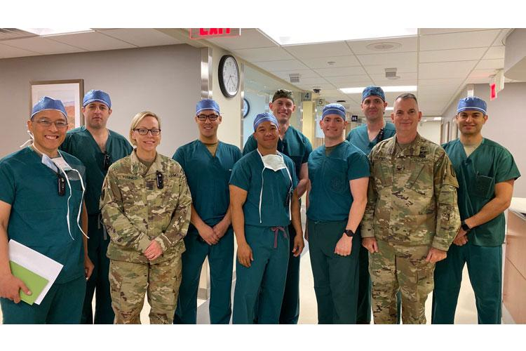 After the huddle, the Army, Navy and Air Force surgeons and Physician Assistant met with the hospital command team. (Photo Credit: Inkyeong Yun, BDAACH UPAR)