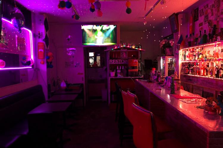 Venus Resto Bar near Yokosuka Naval Base, Japan, sits empty March 30, 2020. CHRISTIAN LOPEZ/STARS AND STRIPES