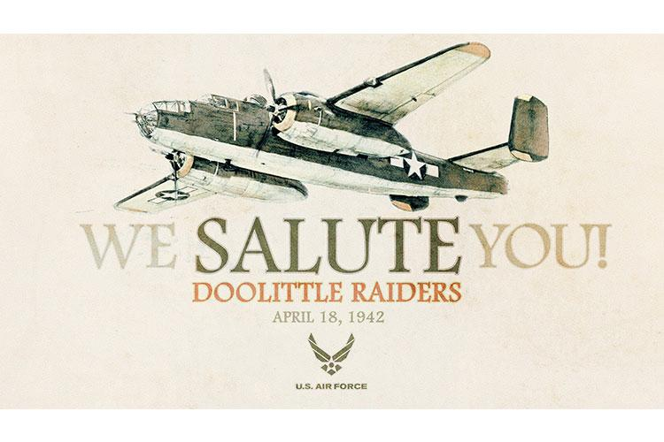April 18, 2020 marks the 78th anniversary of the Doolittle Raid, in which Lt. Col. James H. Doolittle, U.S. Army Air Forces, and Vice Adm. William F. Halsey Jr., U.S. Navy, led a joint bombing operation on the Japanese mainland aimed to inflict both material and psychological damage upon the enemy following the attacks on Pearl Harbor. (U.S. Air Force graphic by Travis Burcham)