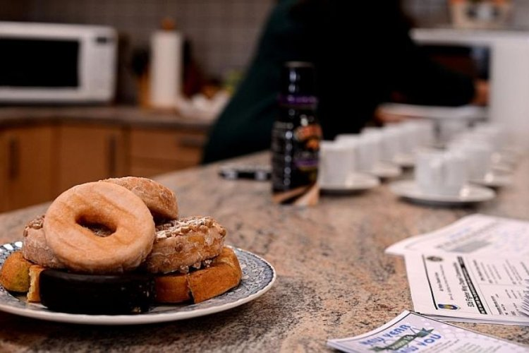 Doughnuts sit out at the U.S. Air Force 52nd Force Support Squadron Airman and Family Readiness Center at Spangdahlem Air Base, Germany, in 2014. Nonalcoholic fatty liver disease saw a 12-fold increase in the military from 2000 to 2017, according to a recent military medical report.