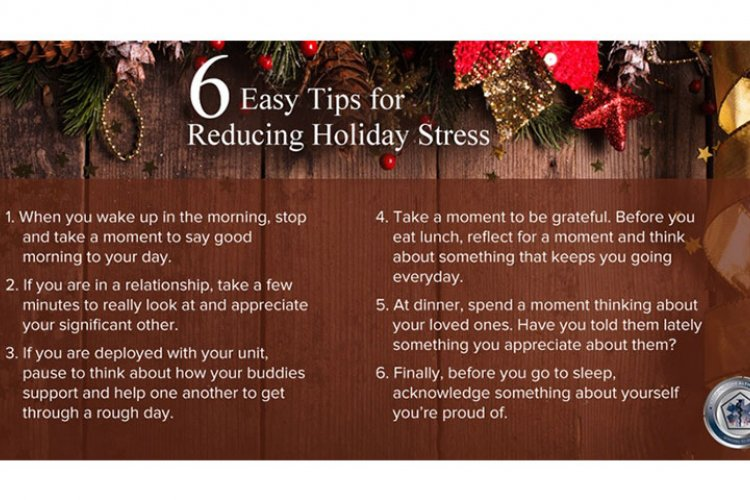 Combat holiday blues, fight stress with helpful hints from