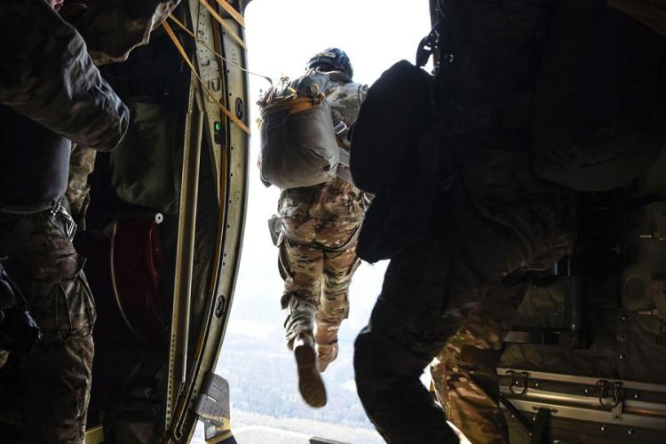 Paratroopers are among the service members typically receiving special monthly pay who will continue collecting those payments even if they cannot complete requirements due to the coronavirus pandemic. MILTON HAMILTON/U.S. AIR FORCE